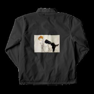 Art Baseのエゴン・シーレ / 1913 / Woman in Black Stockings / Egon Schiele Coach Jacket