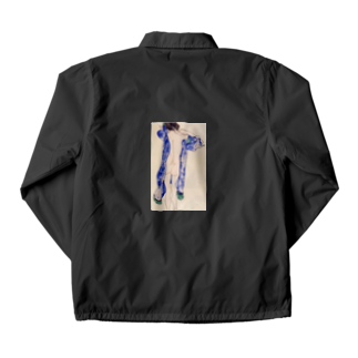 Art Baseのエゴン・シーレ / 1913 / Standing Female Nude in a Blue Robe / Egon Schiele Coach Jacket
