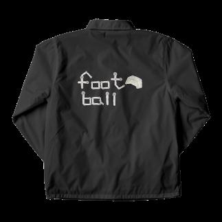 kyonophotoのボールとゴールの「football」 Coach Jacket