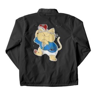 踊り猫 Coach Jacket