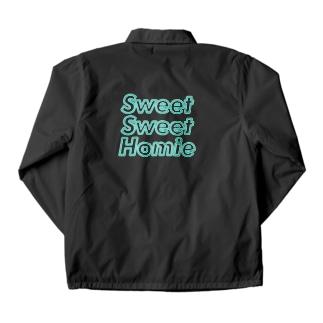 sweet sweet homieのネオン ロゴ Coach Jacket
