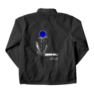 smoke flour blue バックプリント Coach Jacket