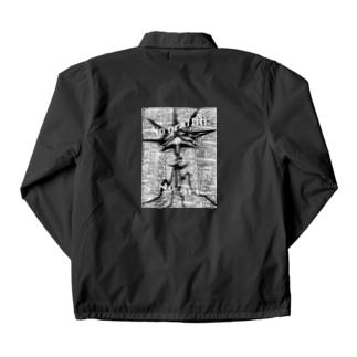 白黒 Coach Jacket
