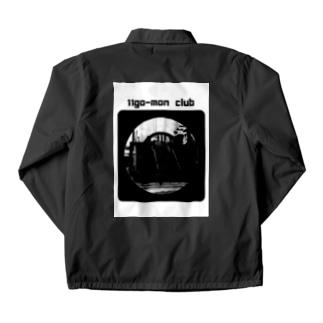 11go-mon club 黒 Coach Jacket