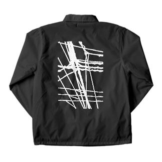 電線6 白 Coach Jacket