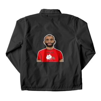 くまコロりん『ラグビーTシャツ』着用イメージ Coach Jacket