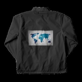 Sakura-yuanの氷と水の世界地図 Coach Jacket