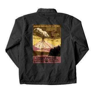 ヴィンテージ観光ポスター 『 ラッセン火山国立公園(米国)』 Coach Jacket