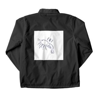 エビ、えび、海老、shrimp Coach Jacket