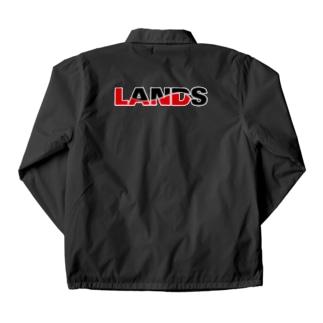 LANDSのLANDSロゴ Coach Jacket