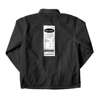 receipt back tag / レシート Coach Jacket