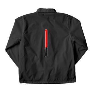 工事現場の誘導棒・誘導灯イラスト【マニアックなモノシリーズ】 Coach Jacket