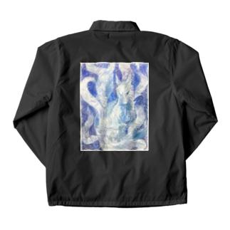 Blue nine-tailed fox Coach Jacket