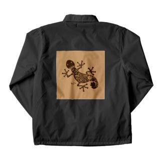 ヤモリ(暗茶) Coach Jacket