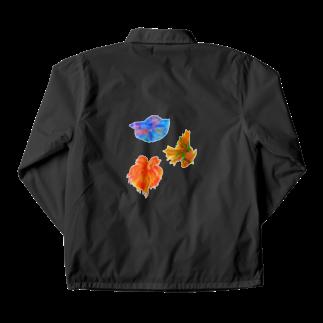 雀の涙程の毒のベタ三色 Coach Jacket