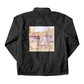 CG絵画:ロバの荷車 CG art: Donkey cargo Coach Jacket