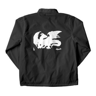 ドラゴン 白 Coach Jacket