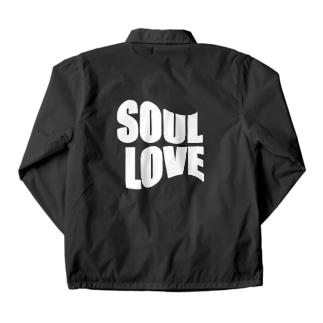SOUL LOVE ロゴ third Coach Jacket