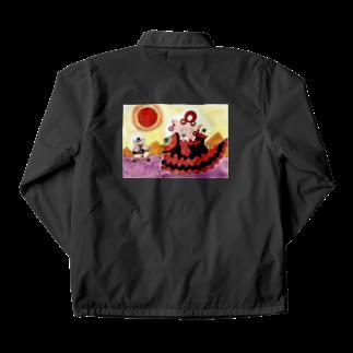 花と雲のフラメンコドロシー灼熱の太陽 Coach Jacket