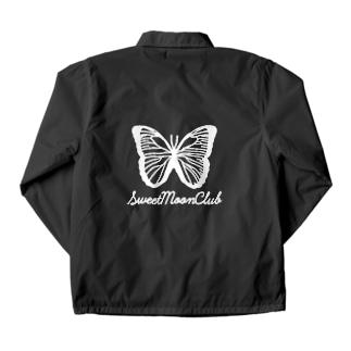 SMC white butterfly logo Coach Jacket