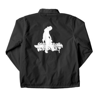 ロゴ入り(白)/後ろ ロゴ文字(白)/前左胸 4色 Coach Jacket