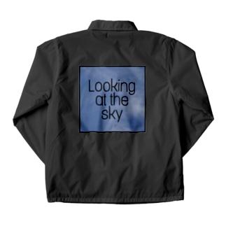 空を見て Coach Jacket
