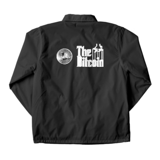 カマラオンテのbitcoin ビットコイン ゴッドファーザー風 パロディ 白字白フォント 白字の文字なのでカラーは黒色がオススメです 白色だと文字が分かりません Coach Jacket