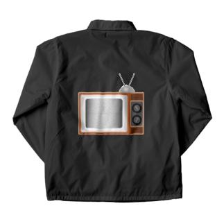 illust_designs_labのレトロでリアルなテレビのイラスト 砂嵐ノイズの画面 Coach Jacket