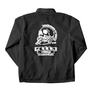 ハンバーガーオブデス/シロ(濃い生地用) Coach Jacket