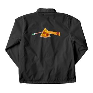 狂気とチーズほとばしるピザ Coach Jacket