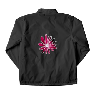 RED FLOWER Coach Jacket