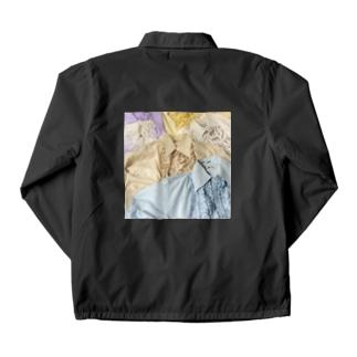70sfrillblouseprint Coach Jacket