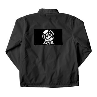 SCM black LOGO Tシャツ  Coach Jacket