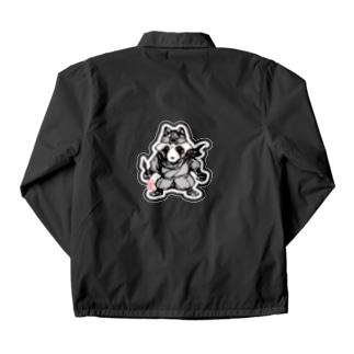 八雲斎条(黒) Coach Jacket