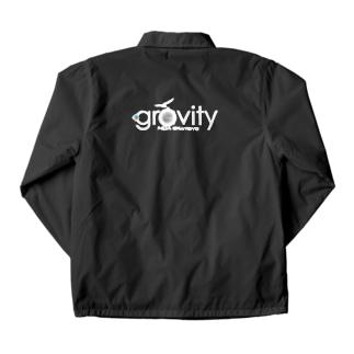 GravityWhitelogo ver2 Coach Jacket