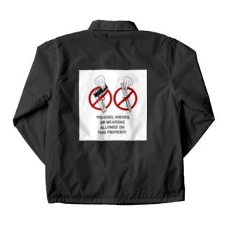 武器持ち込み禁止 Coach Jacket