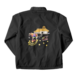 チャグチャグ馬コと曲り屋 シャツ Coach Jacket