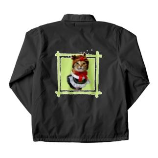猫プリンちゃんクリスマスver Coach Jacket