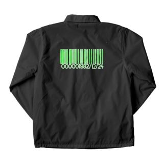 バーコードデザイン 緑のあの人 Coach Jacket