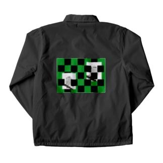 【にこらび】シマエナガ緑◇006 Coach Jacket
