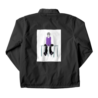 紫属性の中性さん Coach Jacket