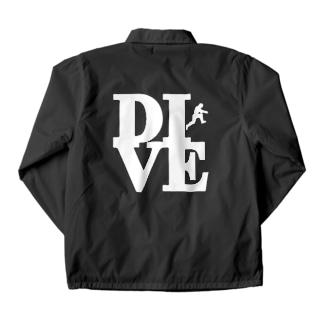 """Dive"" POP-ART風 Coach Jacket"