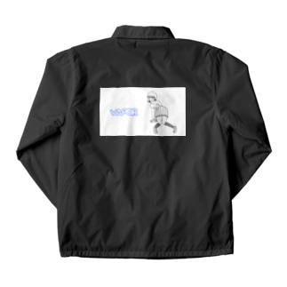 【寄付】BLUE VAPOR/ホワイト Coach Jacket