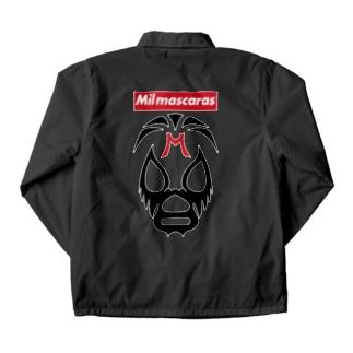 DRIPPEDのMIL MASCARAS-ミル・マスカラス-赤ボックスロゴ Coach Jacket