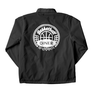 Basketball Diner ロゴ円白 Coach Jacket