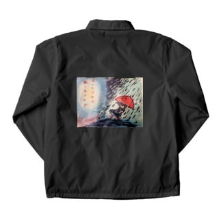 雨ニモマケズT Coach Jacket
