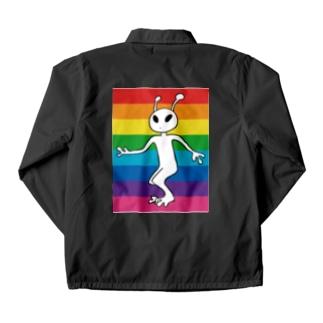 alien / バックプリント Coach Jacket
