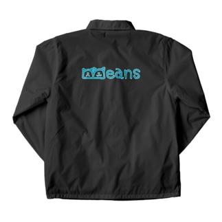 Beans北欧風ブルーロゴ Coach Jacket