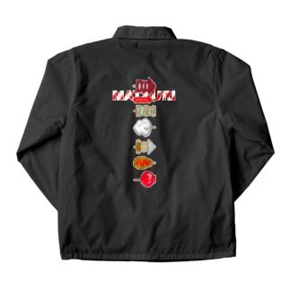【バックプリント】 お祭り串物縦型 Coach Jacket