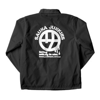 マルサ(白プリント) Coach Jacket